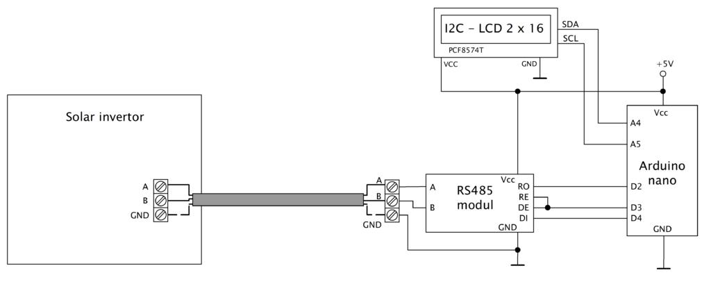 Prijimac RS485 + LCD